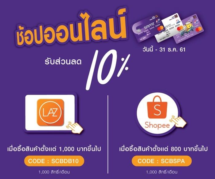 บัตรเครดิตแนะนำ ช้อปปิ้งออนไลน์