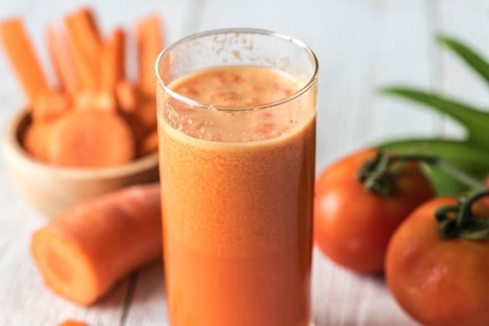 น้ำผลไม้สกัดเย็น น้ำแครอท