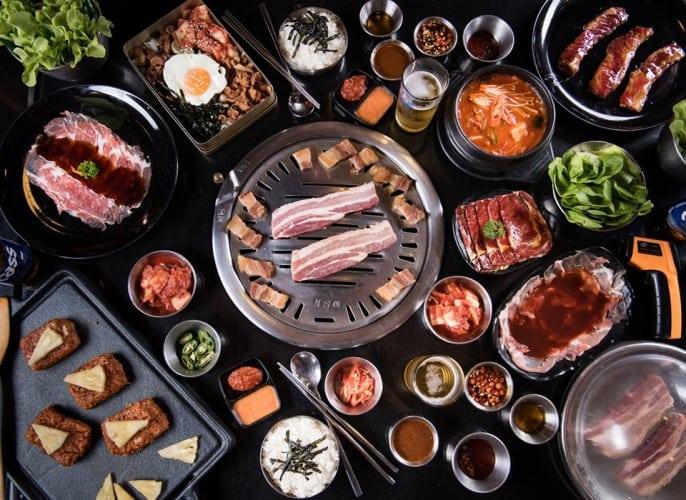 เนื้อย่างเกาหลี ร้านปิ้งย่างเกาหลี