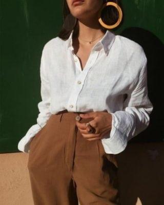 แบบเสื้อทำงานผู้หญิง เสื้อขาวแขนยาว