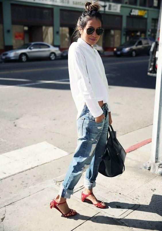 กางเกงยีนส์ทรงบอย กางเกงยีนส์ เสื้อผ้าคนอ้วน กางเกงยีนส์ผู้หญิง
