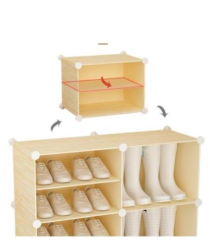 แบบตู้รองเท้า, แบบชั้นวางรองเท้า
