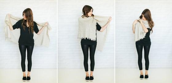 วิธีพันผ้าพันคอ ผ้าพันคอ ผ้าพื้นเมือง ผ้าทอมือ ผูกผ้าพันคอ