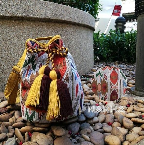 กระเป๋าผ้าไทย กระเป๋าผ้า กระเป๋าสะพายข้างแฟชั่น เป้สะพายหลัง เป้สะพาย ผ้าฝ้ายทอมือ
