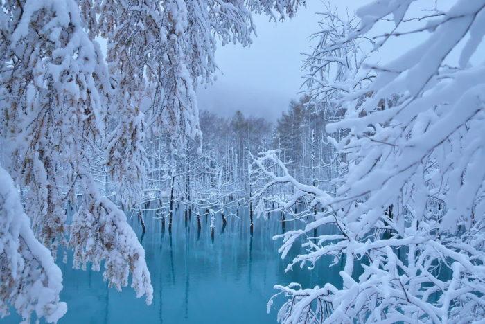 หน้าหนาวเที่ยวไหนดี blue pond
