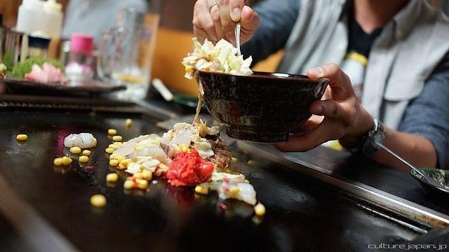 พิซซ่าญี่ปุ่น อาหารน่ากิน ร้านอาหารโตเกียว เทปันยากิ