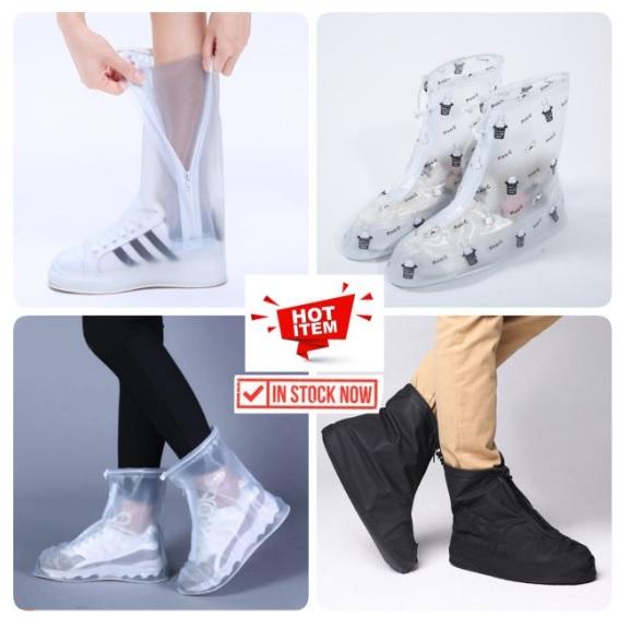 ฤดูฝน แฟชั่นหน้าฝน รองเท้ากันน้ำ ถุงคลุมรองเท้ากันฝน