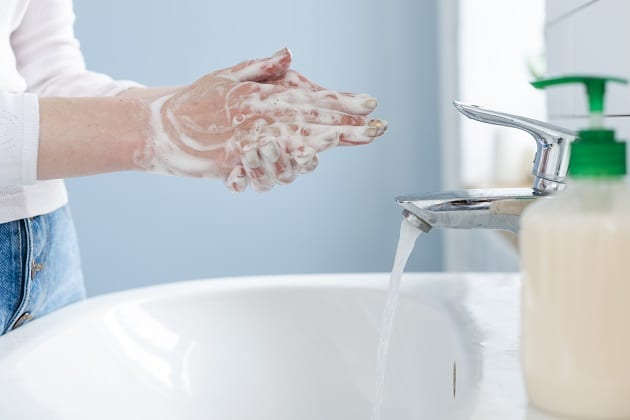 วิธีล้างมือที่ถูกต้อง, ขั้นตอนล้างมือ