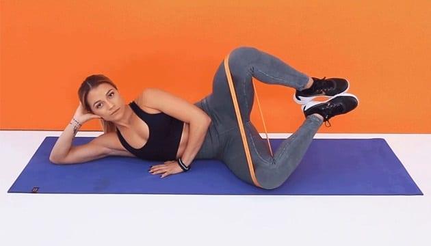 ท่าออกกำลังกายยางยืด, ท่าออกกำลังกายใช้ยางยืด