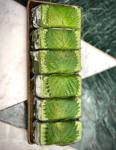 ร้านชาเขียว, เมนูชาเขียว