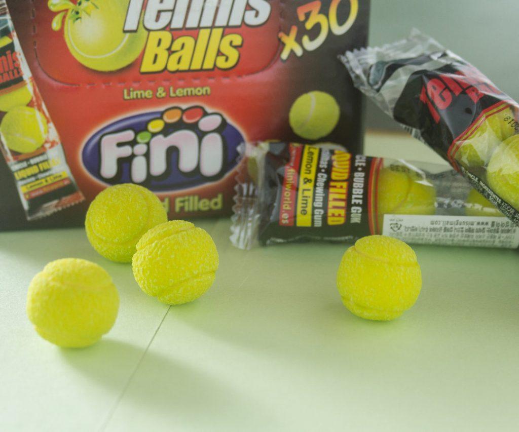 西班牙製造的網球口香糖做得惟妙惟肖