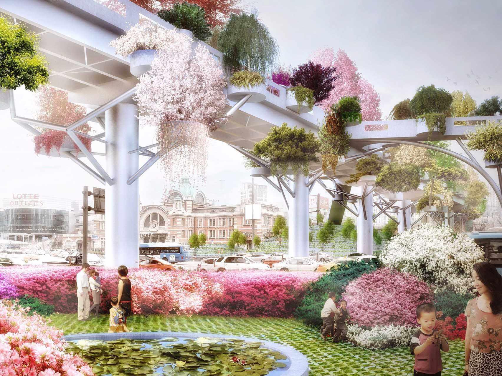 到空中花園漫步吧!首爾最新約會景點「首爾路7017」天橋開通啦