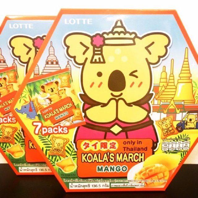 泰國限定樂天LOTTE小熊餅乾