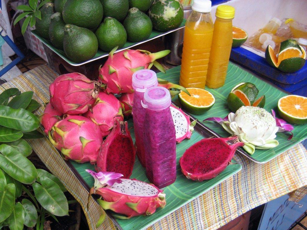 水果:山竹、鳳梨、紅毛丹&現榨果汁