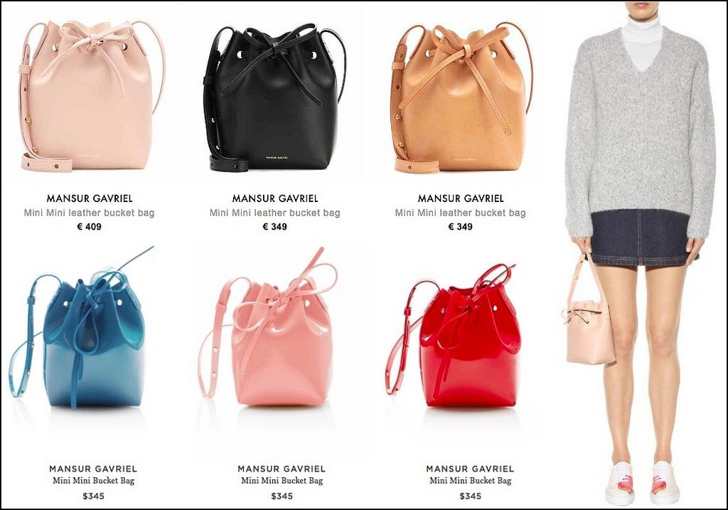 MANSUR GAVIREL leather bucket bag Normal