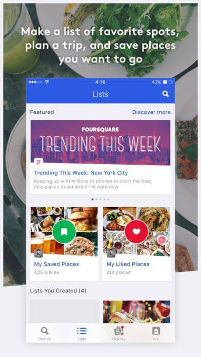 Foursquare-找尋美食APP