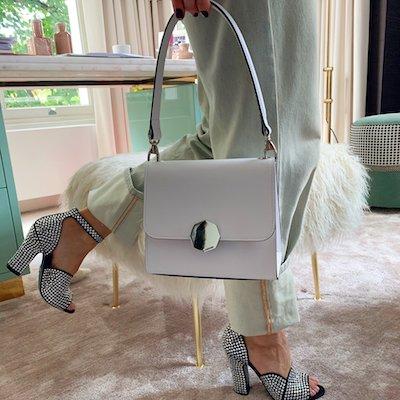 Celia White Over the Shoulder Bag for Women