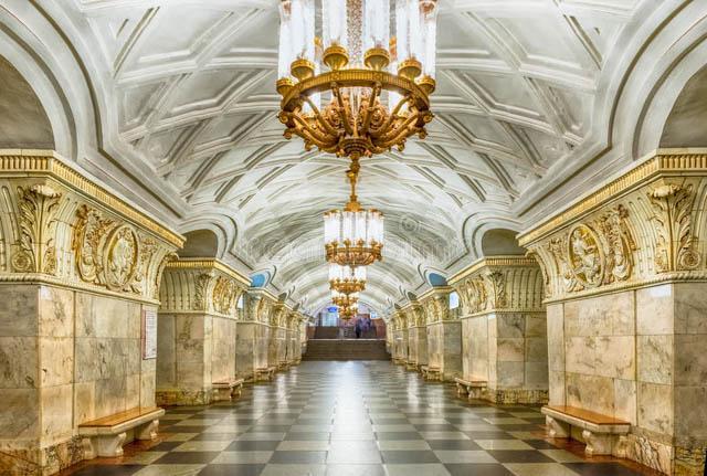 莫斯科景點地下皇宮俄羅斯地鐵