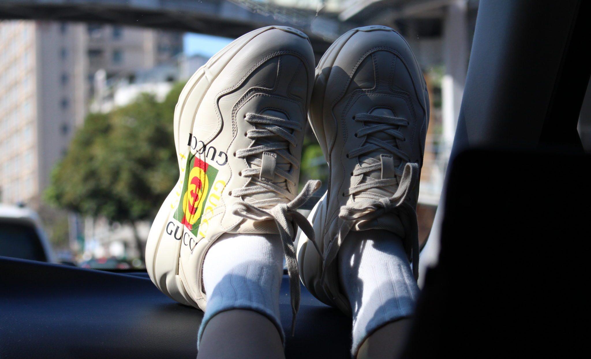 GUCCI Apollo Leather Sneakers