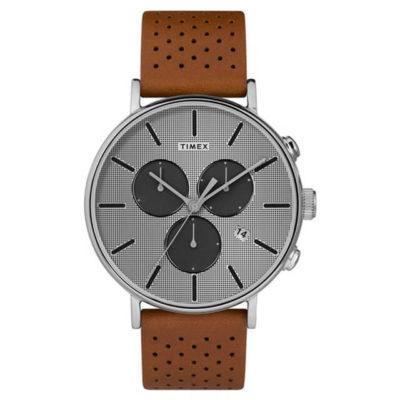 【TIMEX】 天美時 Fairfield Chrono系列 時尚三眼計時手錶
