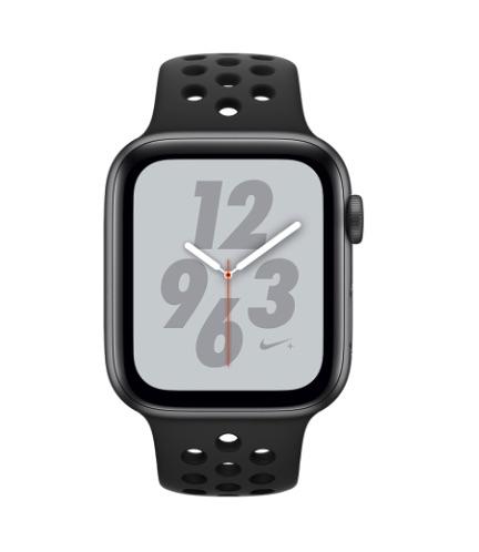 Apple Watch Nike+ S4(GPS)44mm 太空灰鋁金屬+黑色Nike錶帶
