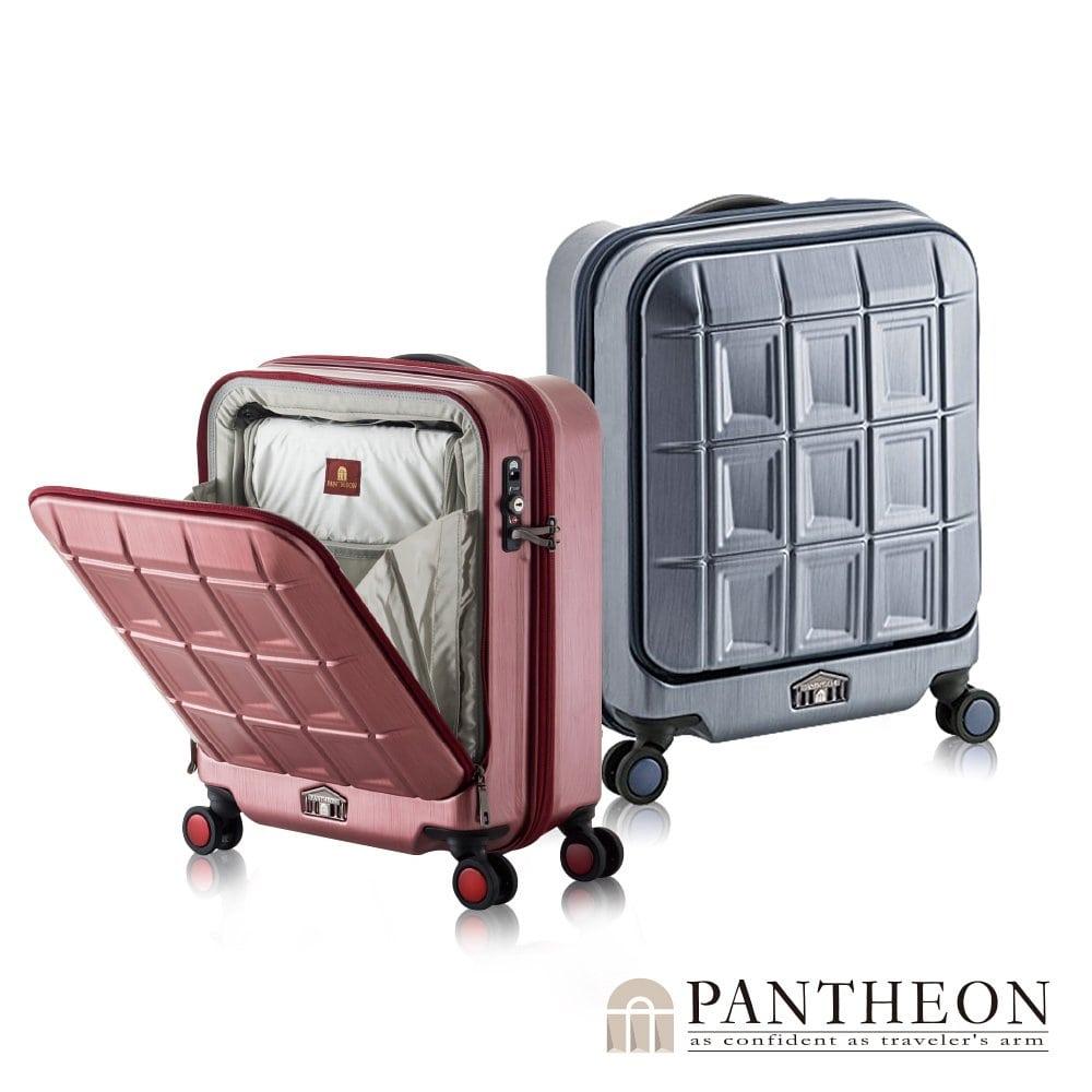 日本PANTHEON 19吋 霧面經典黑 商務推薦 前開登機行李箱