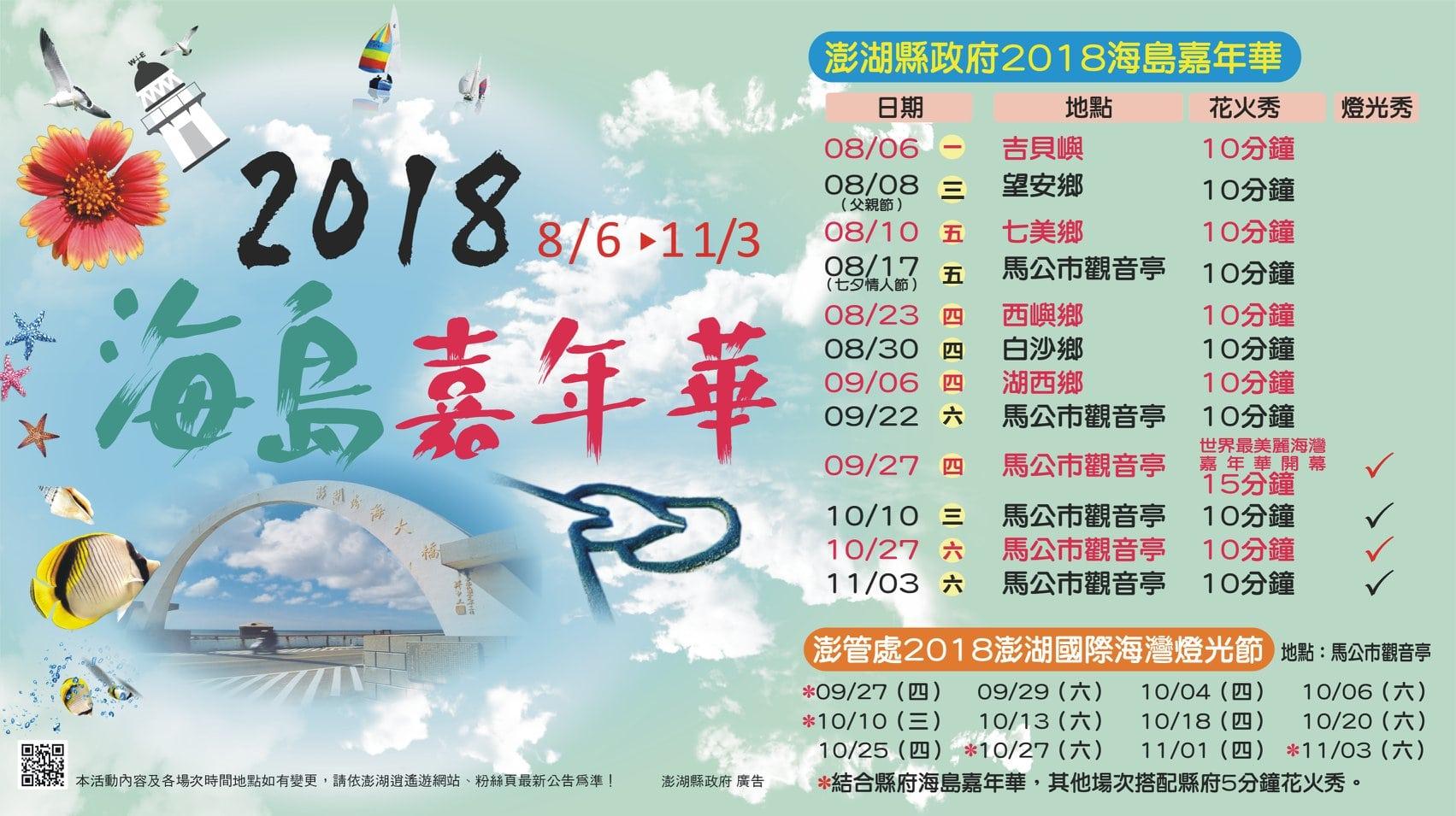 2018澎湖海島嘉年華活動資訊