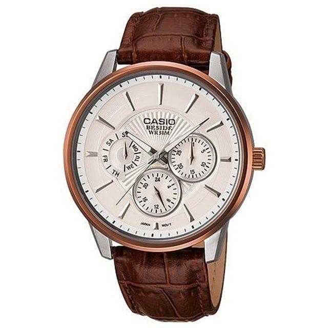 CASIO BESIDE 時尚都會三眼型男腕錶
