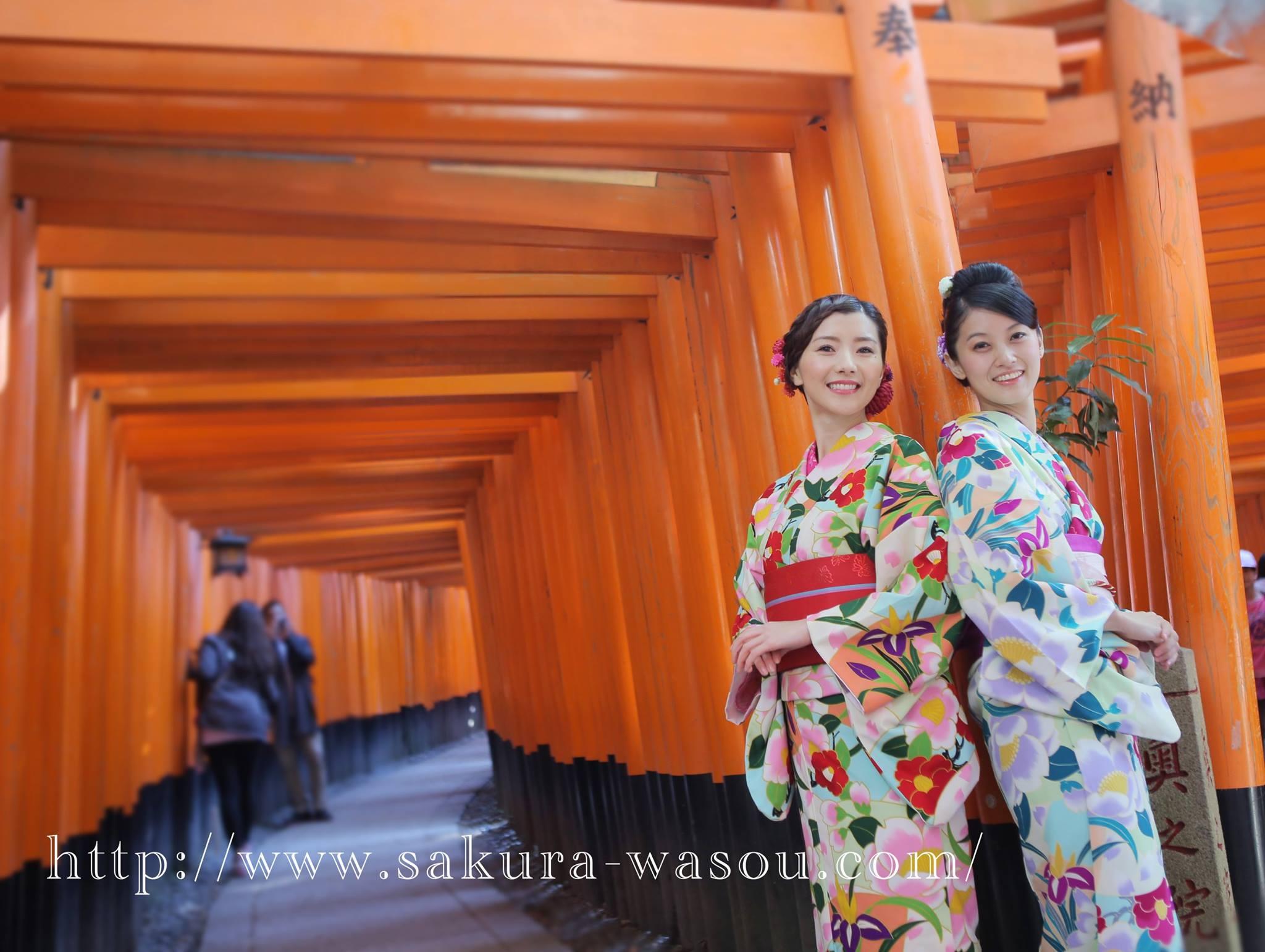 四季櫻花和服