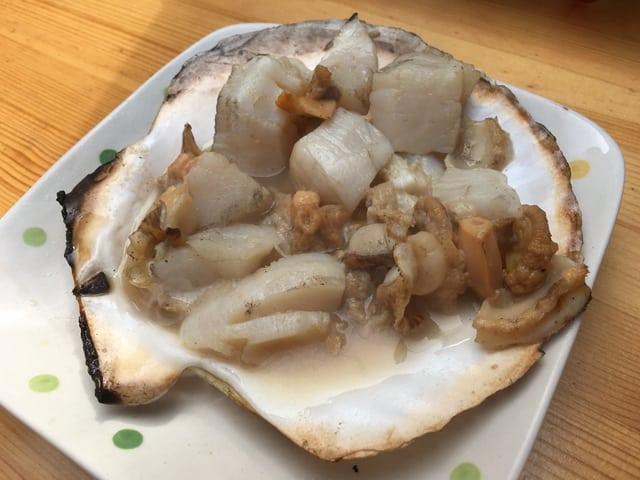 吉岡食堂烤扇貝