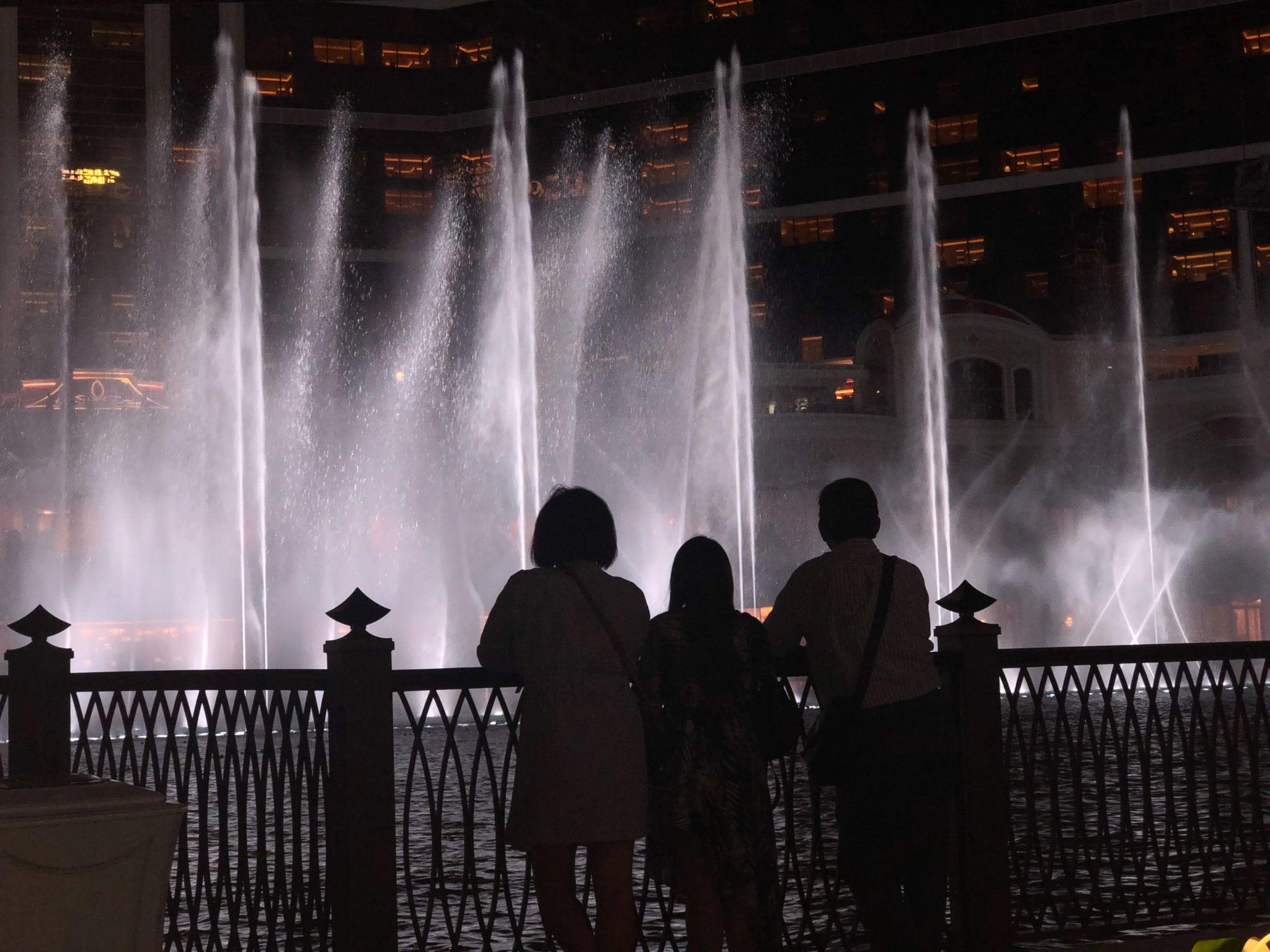 永利酒店表演湖水舞秀