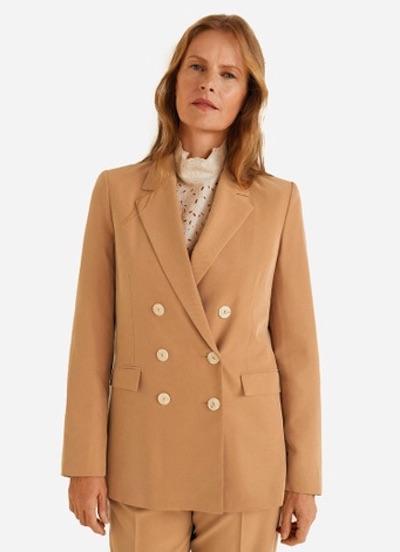 Mango 人工纖維西裝外套
