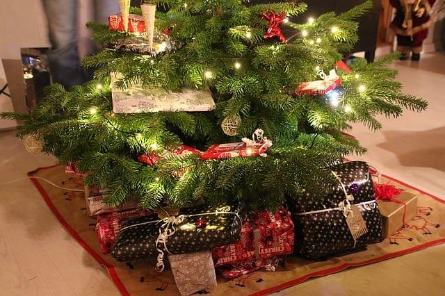 在聖誕樹下的禮物