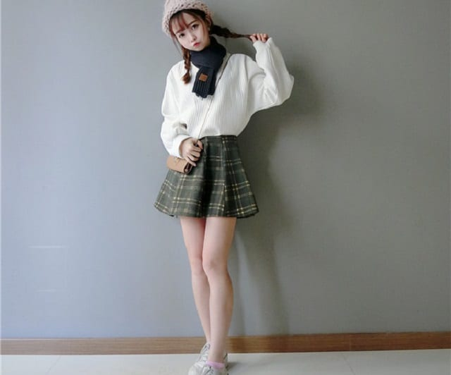 淘寶網格紋短裙