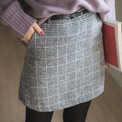 codibook格紋短裙
