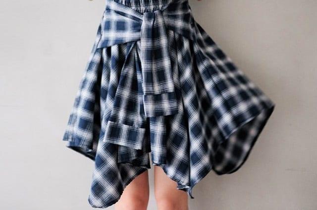 樂天格紋裙