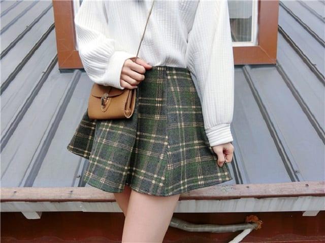 淘寶網格子短裙