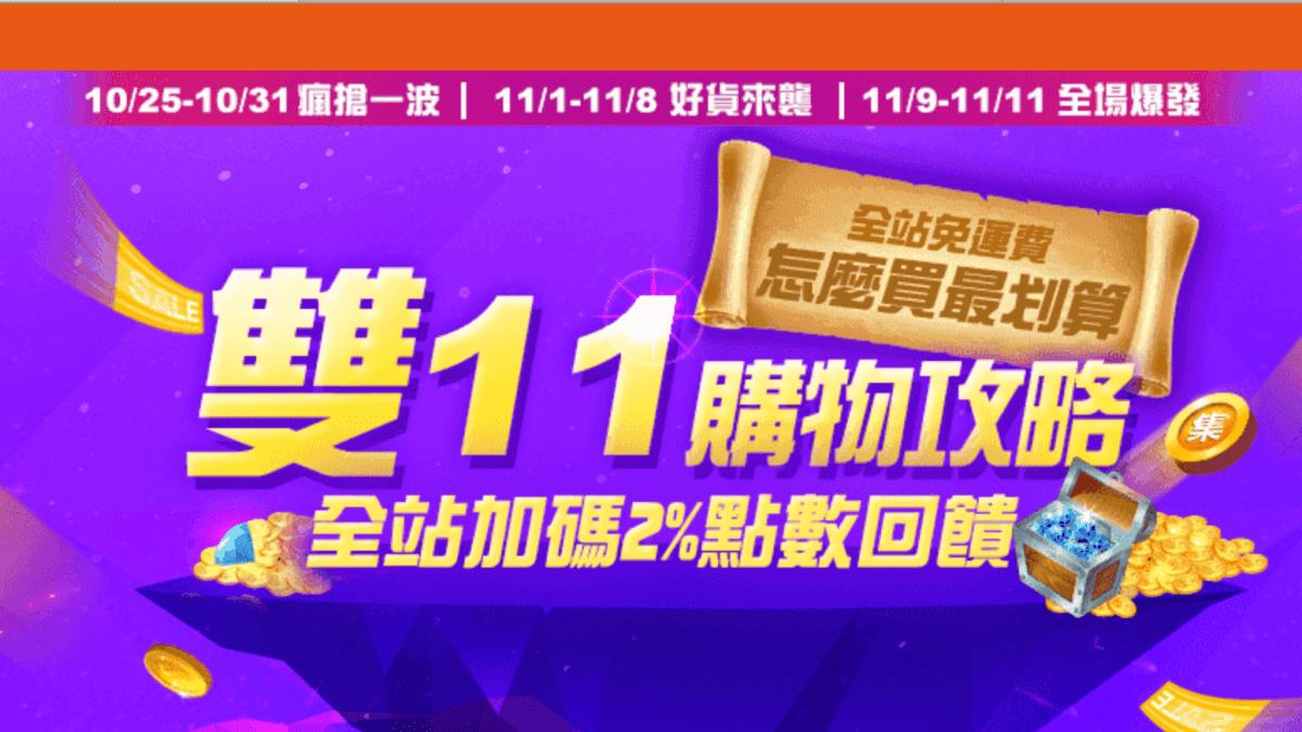 嗨購1111特輯!生活市集雙11優惠活動&信用卡優惠懶人包