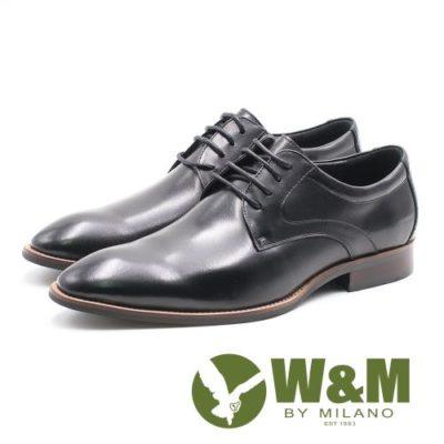 W&M素色極簡綁帶男皮鞋