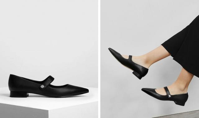 尖頭瑪莉珍鞋 CK1-70390241_BLACK