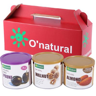 歐納丘天然堅果禮盒 (3罐組)