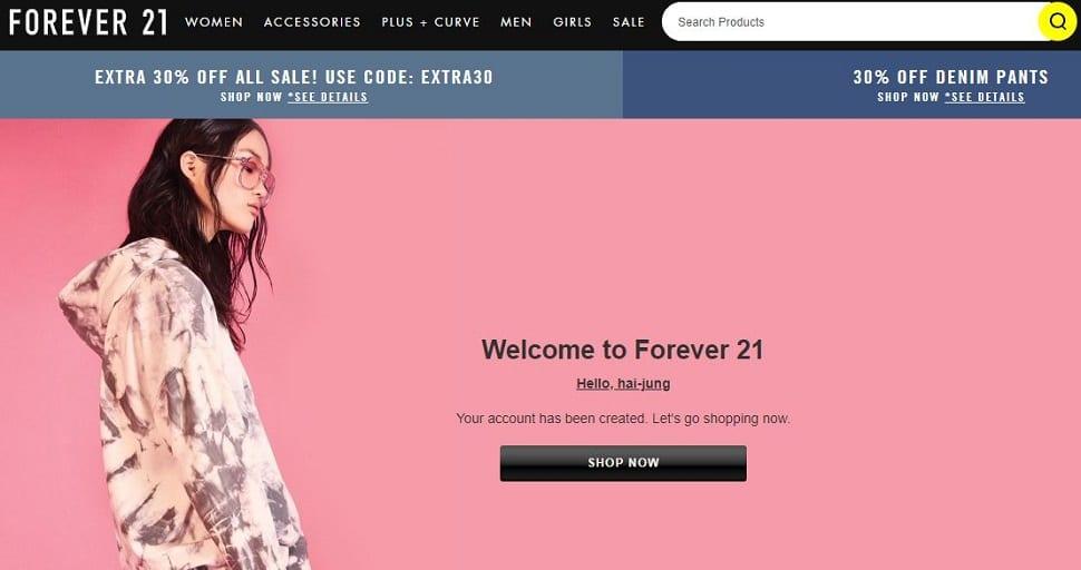 forever21官網