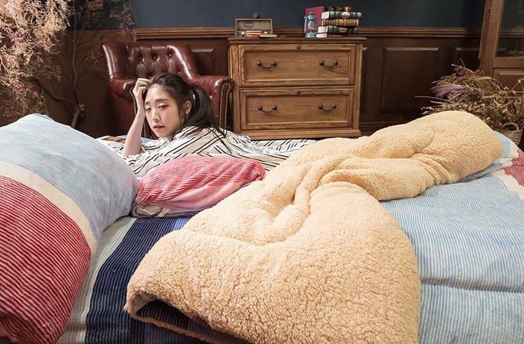 棉床本舖法蘭絨床包兩用毯組