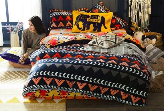 雅妮詩 法蘭絨床包兩用毯被套四件組