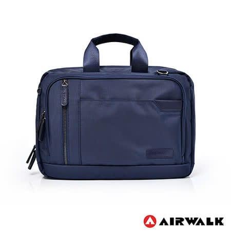 AIRWALK 斜紋防潑水A4夾層公事包