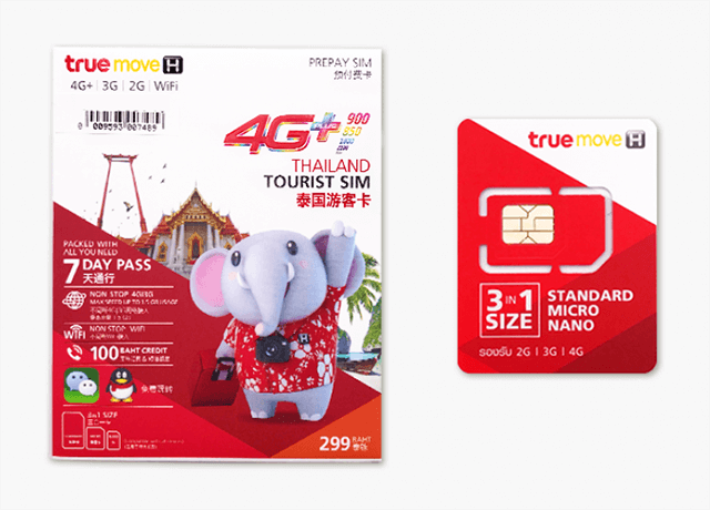 TrueMove泰國4G/3G上網卡