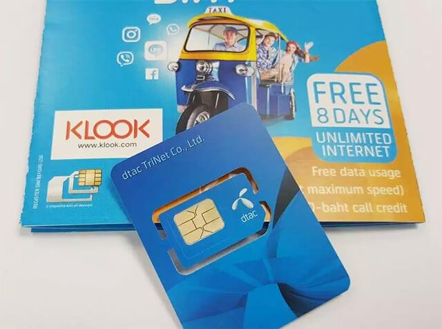 Klook泰國4G/3G上網卡