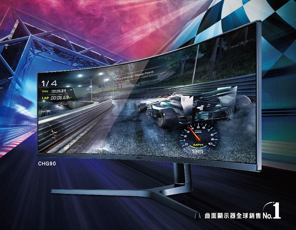 SAMSUNG 32型VA曲面螢幕