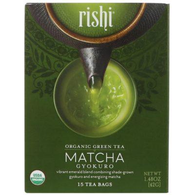 Rishi Tea, 有機綠茶,玉露抹茶