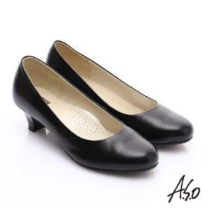 阿瘦黑色跟鞋